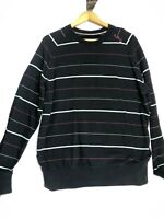 Zoo York Mens XL Black Stripe Crew Neck Long Sleeve Jersey Shirt