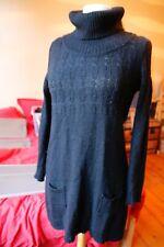 Petite robe noire en alpaga et laine T38/40