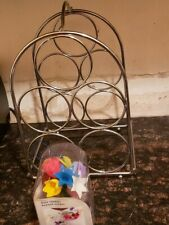 New listing Preowned Metal Wine Rack 5 Bottle Holder Still In Good Condition