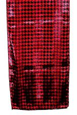 SCARF Long Black & Red Classic Year Round Look HOUNDSTOOTH PATTERN