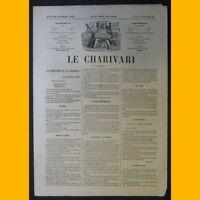 Journal LE CHARIVARI dessin de Draner 16 février 1874