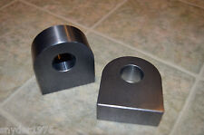 "Pair of ROUNDED Weld on Shackle Mount for 3/4"" d-ring  offroad bumper trailer"