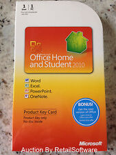 Microsoft Office Home and Student 2010 Key Card, Word Excel PowerPoint & OneNote