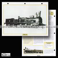 #013.07 Fiche Train - LA LOCOMOTIVE VAPEUR TYPE 28 en BELGIQUE - 1864
