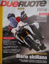 Dueruote 62 2010 Norton 961 Commando, Ducati Monster 796, Yamaha FZ8, Kawasaki