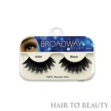 Broadway Eyes False Fake Eyelashes 100% Human Hair Extension Black BLA29 #304