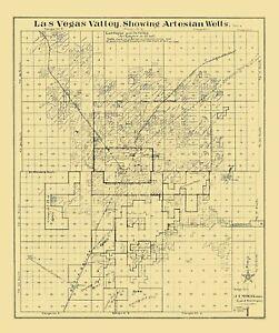 Las Vegas Valley Nevada - McWilliams 1920 - 23 x 27.44