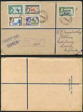 Gilbert and Ellice 1939 Part Set on Cover to England