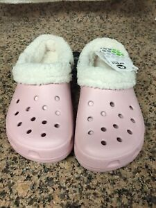 Crocs Womens Clogs Size 8 Mammoth Cotton Candy Oatmeal