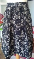 Blue and white circular woven textured print skirt by White Stuff, lined, size 8