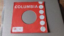 "original company sleeve for 7"" singles orange columbia"