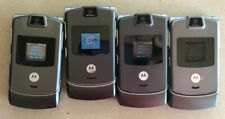 Read 1St Lot of 4 Motorola Razr V3 Gray Cell Phone Verizon Alltel Very Good Used