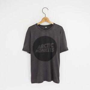 Men's 'Arctic Monkeys' Distressed Vintage-Style Rock T-Shirt