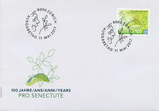 Switzerland 2017 FDC Pro Senectute 100 Years 1v Set Cover Stamps