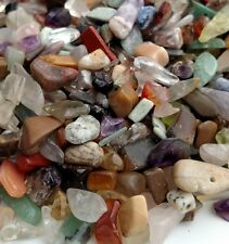 Natural Gemstone Mixed lot 100gm Chip Nugget  Assortment Undrilled Stones Crafts