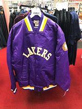 Los Angeles Lakers Jacket Vintage Majestic Bomber Satin Hardwood Classics 4XL