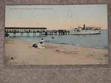 The Pier, Ocean Beach, New London, Conn. used vintage card