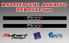 ADESIVI BATTITACCO  PER FIAT  NUOVA 500 S , TUNING STICKERS PROFESSIONALI
