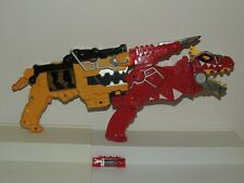Power Rangers Dino Charge Red T REX & Yellow Morpher Gun w/ Charger Works!