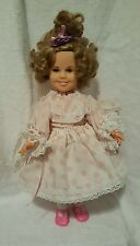 """Shirley Temple Doll Pink Outfit White Shoes 17"""" Stand Ideal 1972 Vintage"""