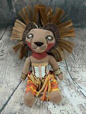 "The Lion King Broadway Musical Simba Lion Plush Stuffed Animal Disney Doll 10"""