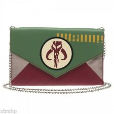 "Star Wars Mandalorian Woman Envelope Cross Body Wallet Bag 48"" Chain"