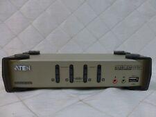 KVM Switch VGA + USB 4 Computer PCs Aten Master View KVMP CS-1734B
