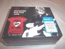 HUNTER HAYES-LIVE-(WANTED/STORM WARNING) NEW SEALED CD + MEDIUM T-SHIRT 2012