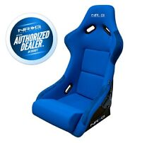 NRG Large Fiberglass Bucket Seat BLUE Cloth w/ NRG Logo