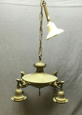 Antique Victorian Brass Chandelier 4 Light Fixture Vintage 312-19L