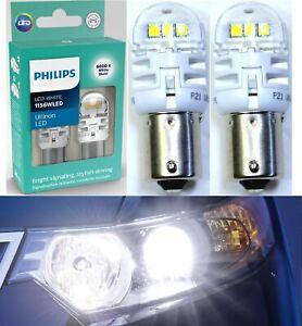 Philips Ultinon LED Light 1156 White 6000K Two Bulbs Back Up Reverse Plug Play