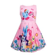 Girls Skater Dress Kids My Little Pony Print  Casual Party Birthday Dresses