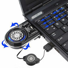 New Vacuum LED USB Cooler Air Extracting Cooling Pad Fan for Notebook Laptop PC