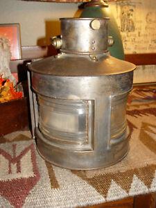 Antique Maritime Navigation Ships Signal Light Lantern, Scarce WWII Era Nautical