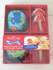 Safari 48pc Cupcake Liner Cup Flag Topper Elephant Lion Monkey Tiger Mason Cash