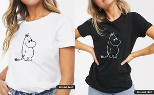 Ladies MOOMIN Character Fashion Tshirt - Retro TV Program 70s Womens T shirt