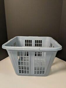 "Vintage Square Rubbermaid Laundry Basket Slate Blue 16"" Wide # 2972"