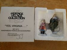 Dept 56 New England Village: Yes, Virginia , Mint in Box - Item 58890 New