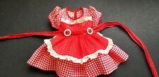 "Arranbee Original Red~White Gingham Doll Dress~Apron & Belt~Fits 18"" Dolls."