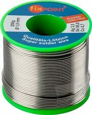 Solder lead-free ø 1.0mm 250g reel content 3.5% silver 0.7% copper 95.8% tin