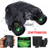 25x10 Binoculars W/Night Vision Zooming Outdoor Travel Folding Telescope