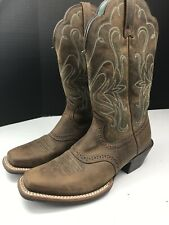 Womens 6 B M 15834 Ariat Legend Cowboy Boots Distressed Brown Leather Square Toe