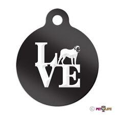 Love Mastiff Engraved Keychain Round Tag w/tab park english Many Colors