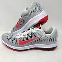Nike Zoom Winflo 5 V White Red Orbit Black Mens Shoes AA7406-101 Size 9.5