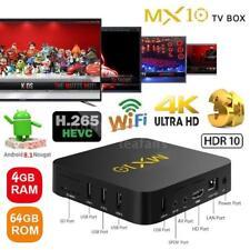 MX10 4G/64G Android 8.1 Smart TV BOX RK3328 Quad Core 4K HDR10 USB3.0 WiFi Media