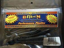 """B Fish N, 4"""" RINGWORM,12/pk,Moss Black, RW-117,BFishN"""