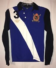 Ralph Lauren Polo Winter Challenge Cup Blue White Black Shirt Big #3 M