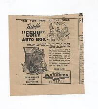 Malleys Esky Auto Box Original Advertisement removed from a 1952 Magazine