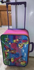 ~Vintage LISA FRANK Cheerleader Bears rolling suitcase luggage bag