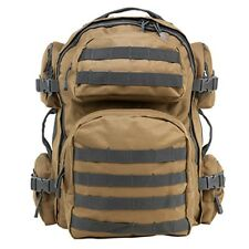 NcSTAR Vism Tactical Camping Day Backpack MOLLE Webbing Tan/Urban Gray CBTU2911